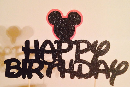 Mickey Mouse Cake Topper, Happy Birthday Cake Topper, Minnie Mouse Cake Topper
