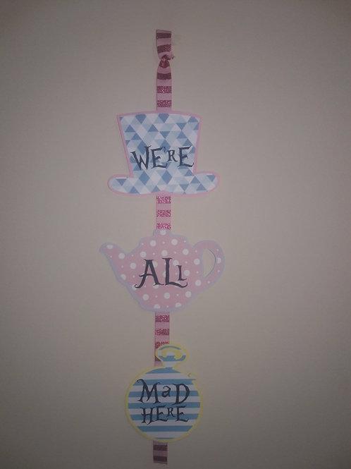 Alice in Wonderland Door sign