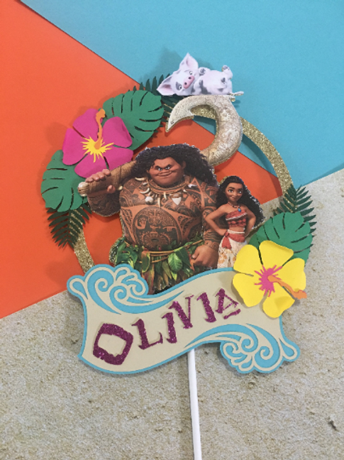 Moana Inspired Cake Topper
