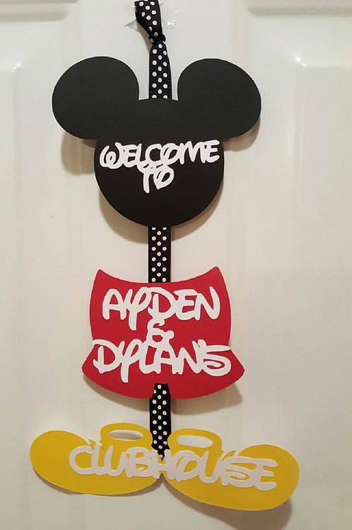 Mickey Mouse Doorsign