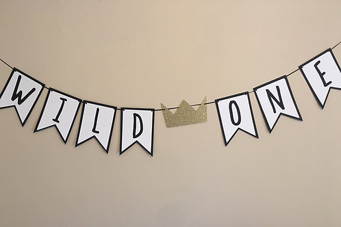 Wild One Banner, Where The Wild Things Are Inspired Banner