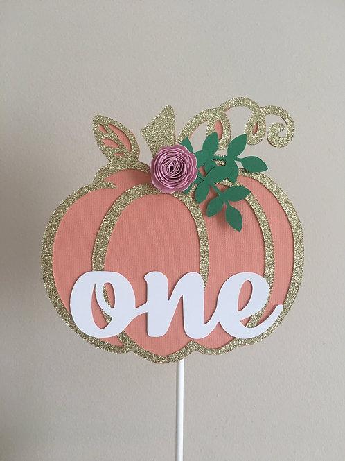 Pumpkin Cake Topper, Our Little Pumpkin Cake Topper, One Cake Topper