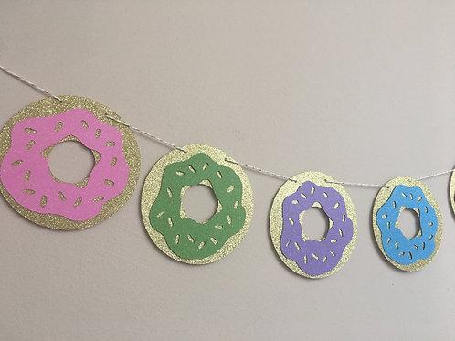 Donut Banner, Donut Garland, Donut Birthday Banner, Donut Happy Birthday Banner