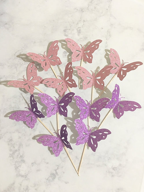 Butterfly Cupcake Toppers, 3d Butterfly Cupcake Toppers