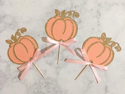 Pumpkin Cupcake Toppers, Our Little Pumpkin Cupcake Toppers