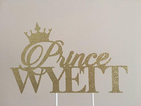 Royal Prince Cake Topper, Prince Cake Topper