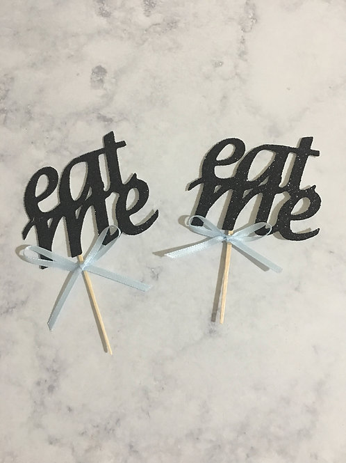 Eat Me Cupcake Toppers, Alice in Wonderland Cupcake Toppers