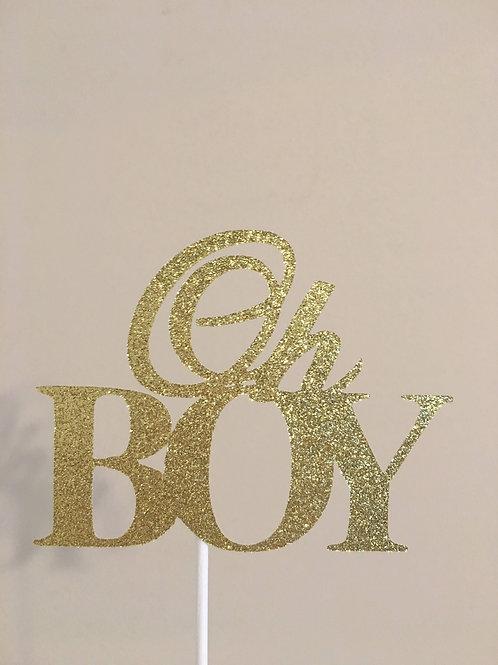 It's a Boy Cake Topper, Oh Boy Cake Topper, Baby Shower Cake Topper