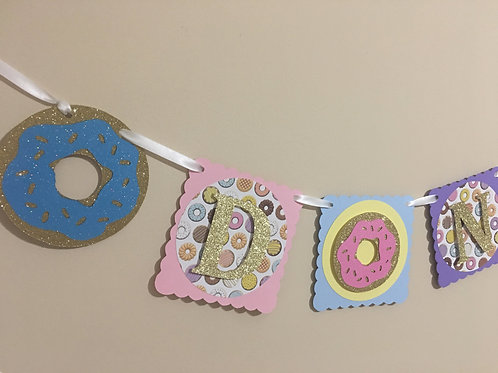 Donut Banner, Donut Grow Up Banner