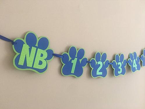 Puppy Dog Pals  Inspired 12 Month Banner