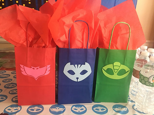 Pj Masks Inspired Favor Bags, Pj Masks Gift Bags