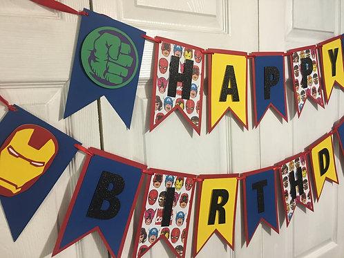 Marvel Inspired Banner, Avengers Inspired Banner