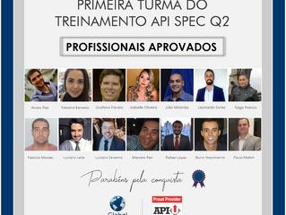 Profissionais aprovados no Treinamento API Spec Q2
