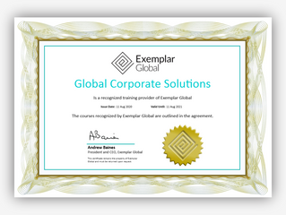 Certificado Exemplar Global