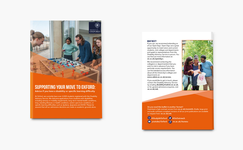 Leaflet for students with disabilities