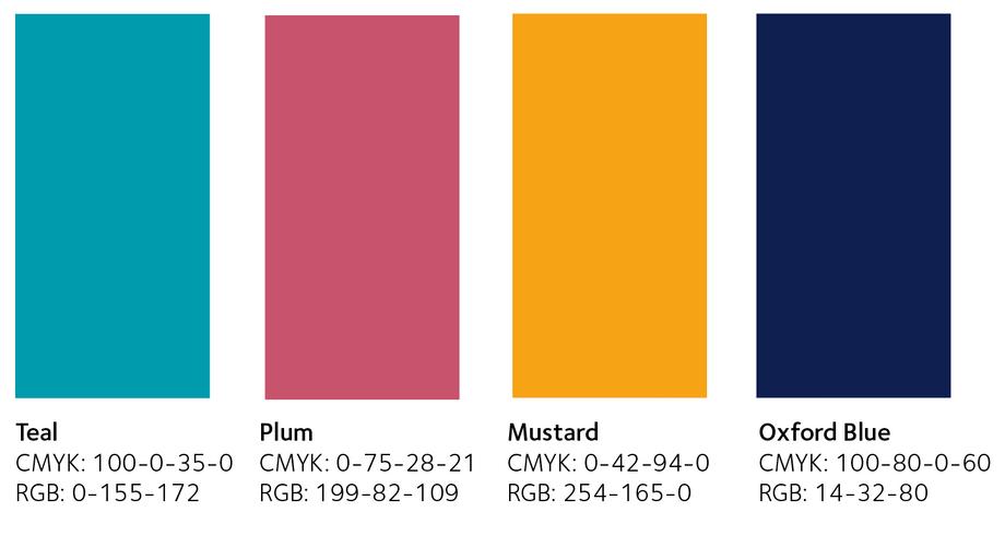 Colour palette for option 2