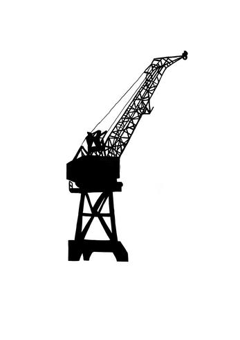 Preliminary sketches: cranes