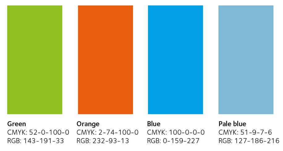 Colour palette for option 1