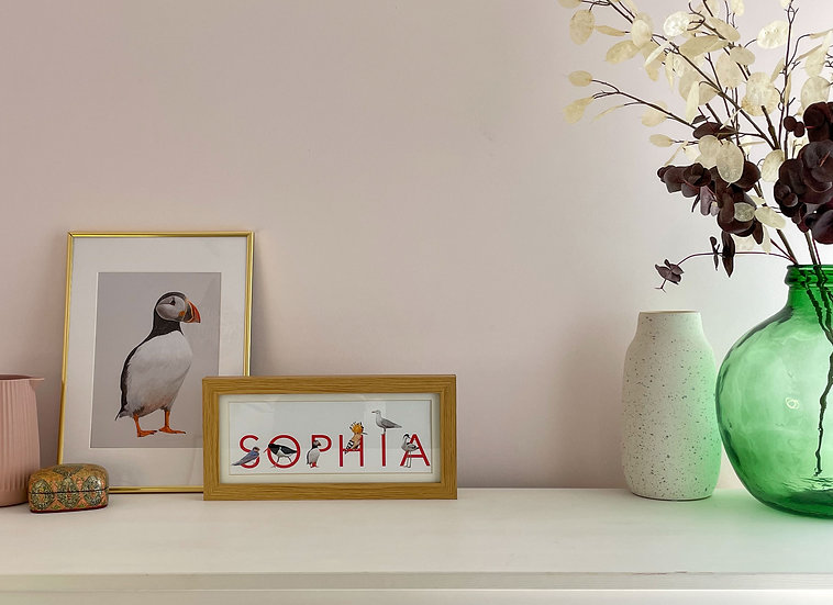 Personalised bird letters naming gift