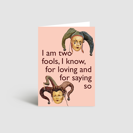 Two fools Valentine's Day card