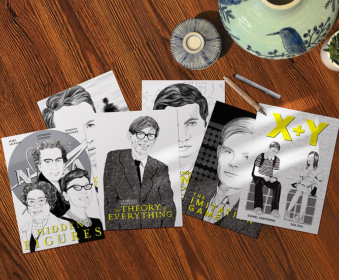 Postcard set: Maths in the movies