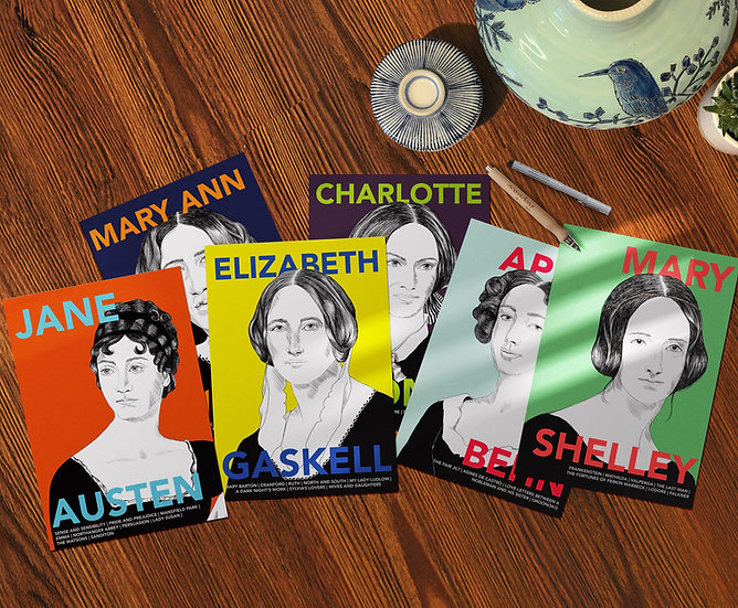 Postcard set: Women who Invented the Novel