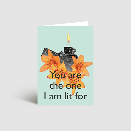 Lit for you Valentine's Day card