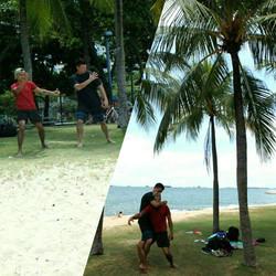 Kuntao Training at the Beach