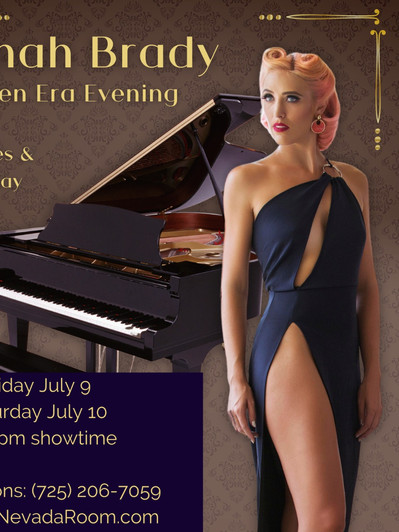 Golden Era Evening. Two nights only, July 9 & 10, 2021.