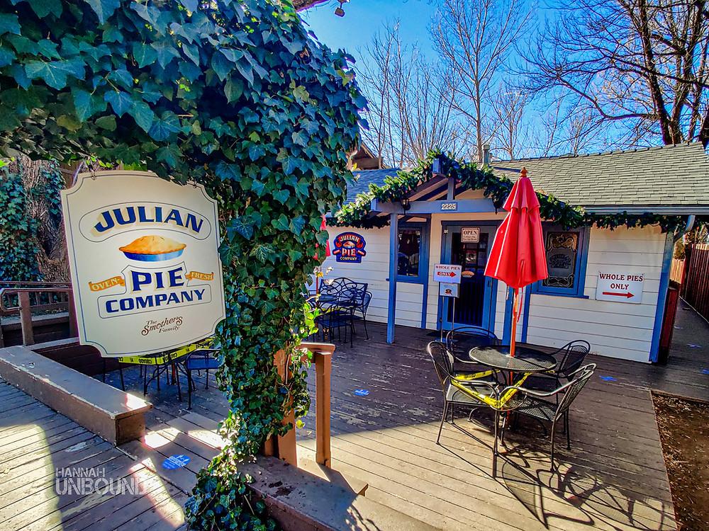 Julian pie company sign and building in Julian California