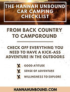 Hannah Unbound camping checklist page 1