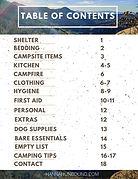 Hannah Unbound Car Camping Checklist tab