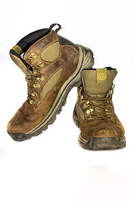 Hannah Unbound's Timberland hiking boots
