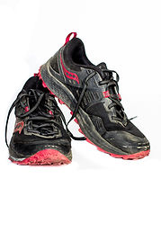 Hannah Unbound's saucony trail runners f
