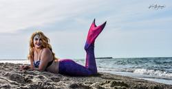 Mermaid Portrait on the Beach
