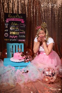 Dirty 30 Cake Smash