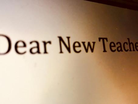 Dear New Teacher: Listen to Your Coach