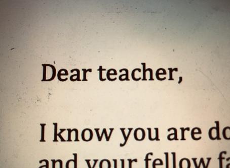 Dear teacher