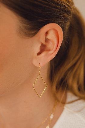 Boucles d'oreilles LOSANGE