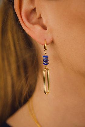 Boucles d'oreilles BLUE MAILLON