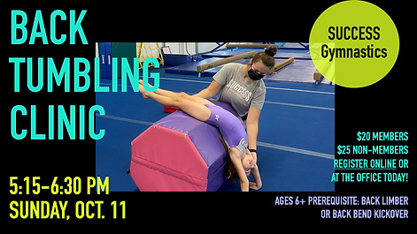 Annoucements - Back Tumbling Clinic Octo