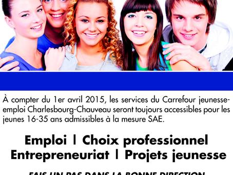 L'aventure Carrefour jeunesse-emploi se poursuit!!!