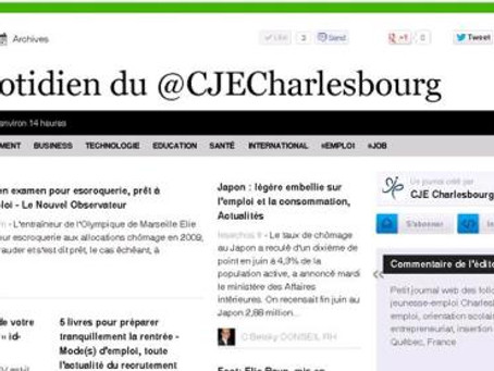 Le iQuotidien du @CJE Charlesbourg