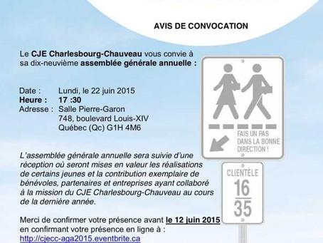 Avis de convocation – AGA 2015