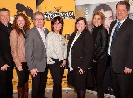 Nouvelle entente de partenariat entre les carrefours jeunesse-emploi (CJE) et le CLD de Québec.
