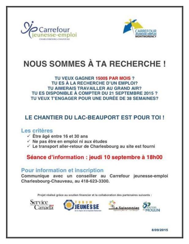 Chantier Lac-Beauport 2015