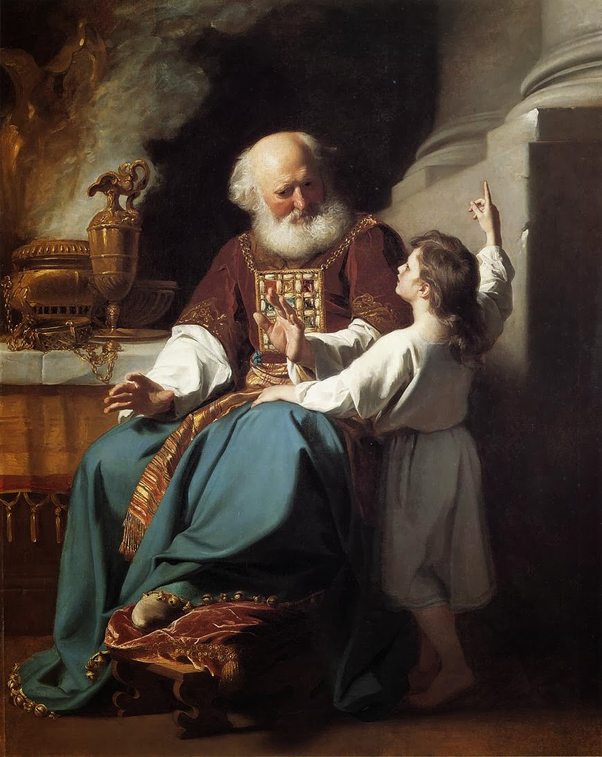 """Painting of """"Samuel Relating to Eli the Judgements of God upon Eli's House"""" by John Singleton Copley"""