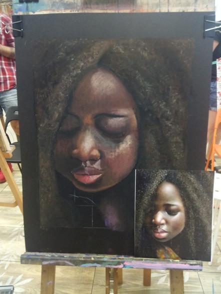 Black charming girl