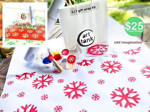 D.I.Y Christmas Gift Wrap & Tags Stencil Kit