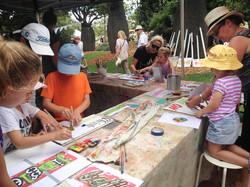 Art Tank stencil signs workshop